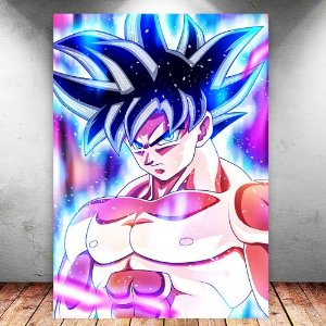 Placa Decorativa MDF Goku Ultra Instinct - Dragon Ball - PMDF101