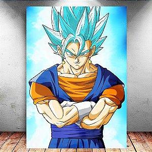 Placa Decorativa MDF Vegetto Blue - Dragon Ball - PMDF102