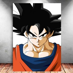 Placa Decorativa MDF Goku - Dragon Ball - PMDF103