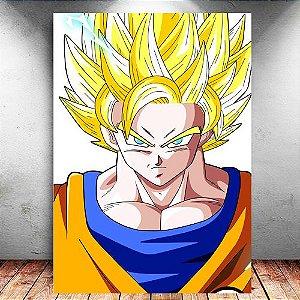 Placa Decorativa MDF Goku SSJ 2 - Dragon Ball - PMDF105