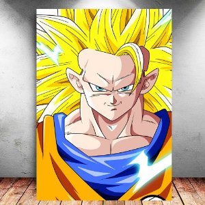 Placa Decorativa MDF Goku SSJ 3 - Dragon Ball - PMDF106