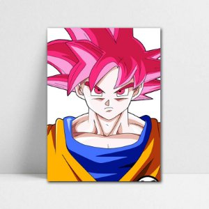 Poster A4 Goku SSJ God - Dragon Ball - PT107