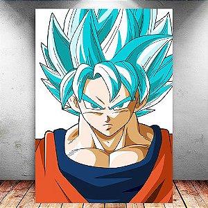 Placa Decorativa MDF Goku SSJ Blue - Dragon Ball - PMDF108