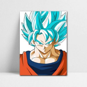 Poster A4 Goku SSJ Blue - Dragon Ball - PT108