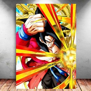 Placa Decorativa MDF Goku Xeno SSJ4 - Dragon Ball - PMDF112