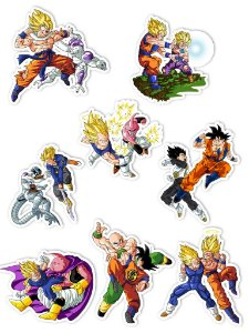 Ímãs Decorativos Dragon Ball Set B - 8 unid