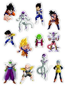 Ímãs Decorativos Dragon Ball Set D - Saga Freeza - 12 unid