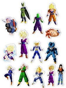 Ímãs Decorativos Dragon Ball Set E - Saga Cell - 14 unid
