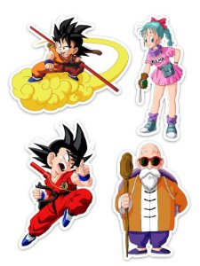 Ímãs Decorativos Dragon Ball Set G - 10 unid