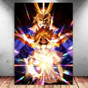 Placa Decorativa MDF All Might - My Hero Academia - PMDF189