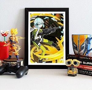 Quadro Decorativo Sinon - Sword Art Online - QV168