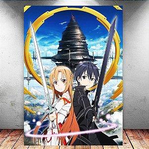 Placa Decorativa MDF Kirito e Asuna - Sword Art Online - PMDF176
