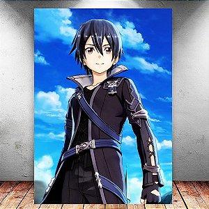 Placa Decorativa MDF Kirito - Sword Art Online - PMDF177