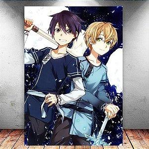 Placa Decorativa MDF Kirito e Eugeo - Sword Art Online - PMDF182