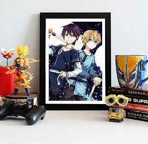 Quadro Decorativo Kirito e Eugeo - Sword Art Online - QV182