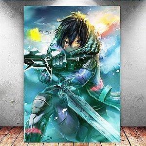 Placa Decorativa MDF Kirito - Sword Art Online - PMDF184