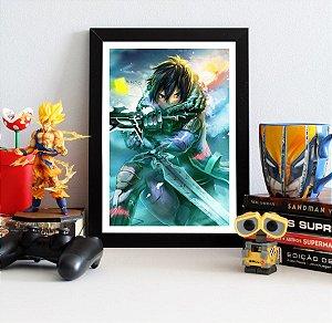Quadro Decorativo Kirito - Sword Art Online - QV184