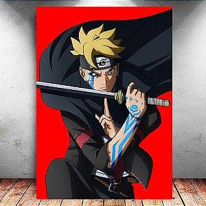Placa Decorativa MDF Boruto - Naruto - PMDF208