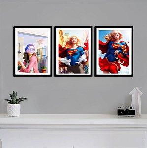 Kit Quadro Decorativo Supergirl - DC Comics  - KQV12