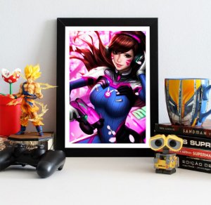 Quadro Decorativo D.VA - Overwatch - QV312