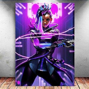 Placa Decorativa MDF Sombra - Overwatch - PMDF314