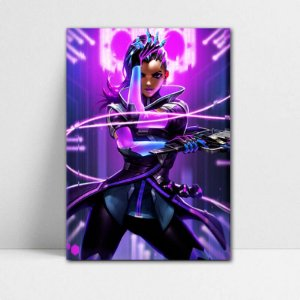Poster A4 Sombra - Overwatch - PT314