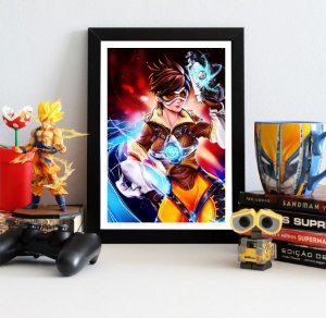 Quadro Decorativo Tracer - Overwatch - QV315