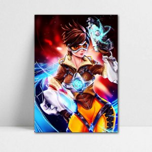 Poster A4 Tracer - Overwatch - PT315