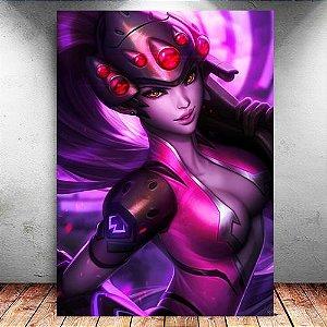 Placa Decorativa MDF Widowmaker - Overwatch - PMDF319