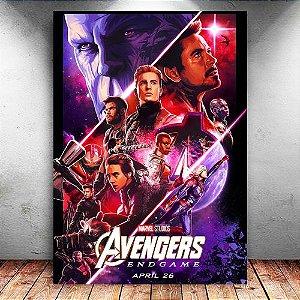 Placa Decorativa MDF Avengers Endgame - PMDF408