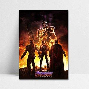 Poster A4 Trinity Avengers Endgame - PT410