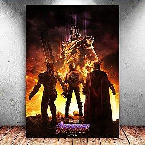 Placa Decorativa MDF Trinity Avengers Endgame - PMDF410