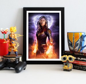 Quadro Decorativo Capitã Marvel - Avengers Endgame - QV409