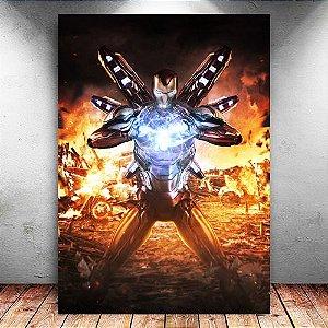 Placa Decorativa MDF Iron Man - Avengers Endgame - PMDF412