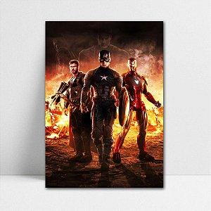 Poster A4 Trinity Avengers Endgame - PT416