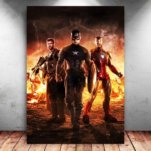 Placa Decorativa MDF Trinity Avengers Endgame - PMDF416