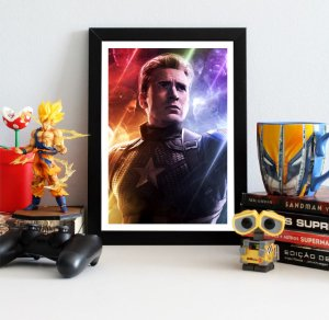 Quadro Decorativo Capitão América - Avengers Endgame - QV419