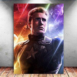 Placa Decorativa MDF Capitão América - Avengers Endgame - PMDF419