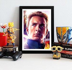 Quadro Decorativo Capitão América - Avengers Endgame - QV425