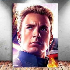 Placa Decorativa MDF Capitão América - Avengers Endgame - PMDF425