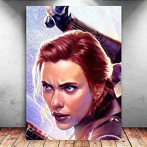 Placa Decorativa MDF Black Widow - Avengers Endgame - PMDF426