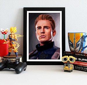 Quadro Decorativo Capitão América - Avengers Endgame - QV427