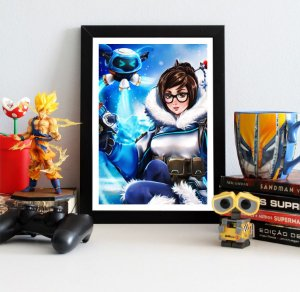 Quadro Decorativo Mei Ling - Overwatch - QV316