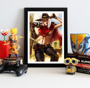 Quadro Decorativo Ashe - Overwatch - QV317