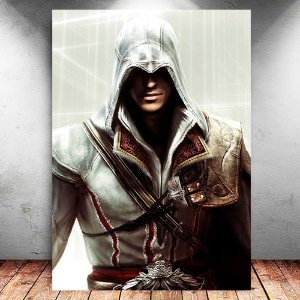 Placa Decorativa MDF Ezio - Assassin's Creed - PMDF321