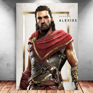 Placa Decorativa MDF Alexios - Assassin's Creed - PMDF322