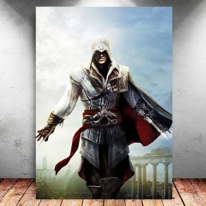 Placa Decorativa MDF Ezio - Assassin's Creed - PMDF323