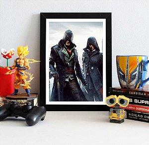 Quadro Decorativo Jacob e Evie - Assassin's Creed - QV324