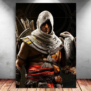 Placa Decorativa MDF Bayek - Assassin's Creed - PMDF329