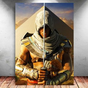 Placa Decorativa MDF Bayek - Assassin's Creed - PMDF330
